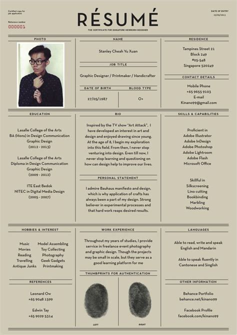 creative cv layout design fantastic exles of creative resume designs creative