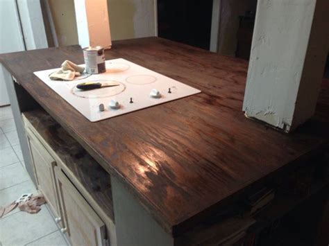 Faux Wood Countertops by Diy Faux Butcher Block Countertops Counters