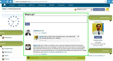 themes moodle 1 9 download moodle in english building a facebook wall style forum