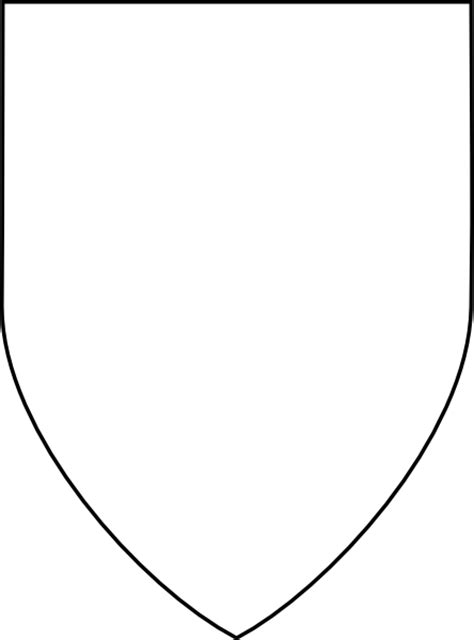 shield outline template blank shield shape
