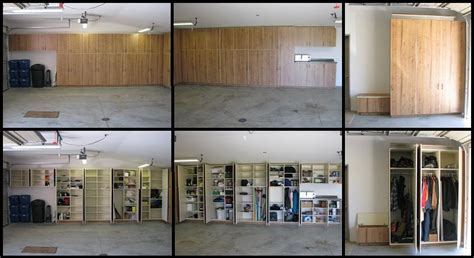 built in garage storage cabinets