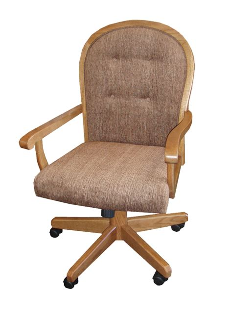 Dining Chair With Casters Dining Room Chairs Casters Classic Oak Dining Chair With Casters Dining Chairs With Casters