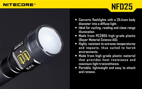 Nitecore Beam Colour Filter For Flashlights 25mm Nfg25 colour filters 25mm nfg25 nfr25 nfb25 nfd25 can only be purchased when purchasing a nitecore