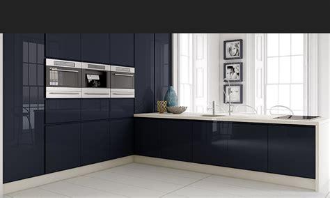 Blue Interior Design Tippo Navy High Gloss Contemporary Kitchen Cgi
