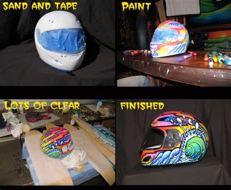 Motorradhelm Lackierung by Gs4 Security Paint Pens