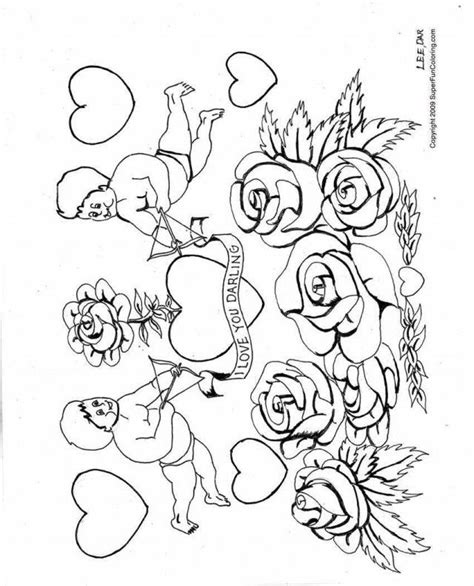 Coloring Pages Hearts And Roses by Coloring Pictures Of Hearts And Roses Coloring Home