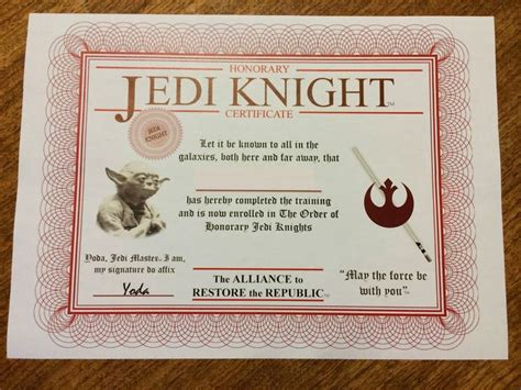 wars jedi certificate template free 8 best certificate templates images on