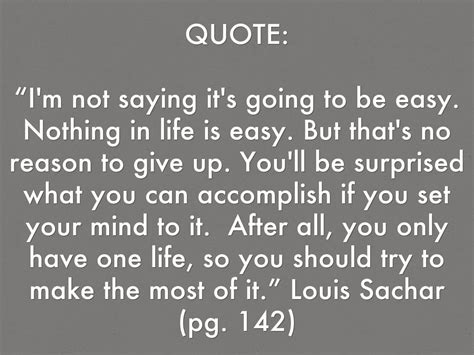 if only for one books louis sachar quotes quotesgram