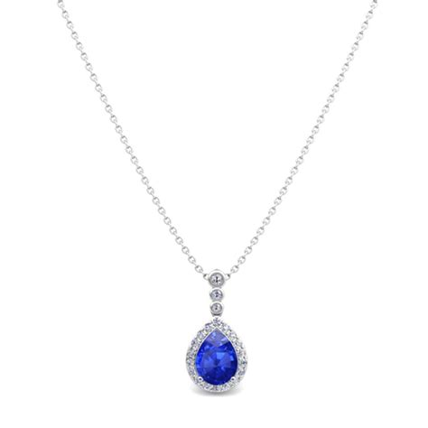 and pear ceylon sapphire necklace in 14k gold 3
