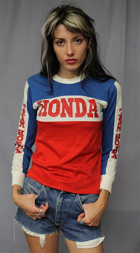womens motocross jerseys vintage 70s 80s team honda motocross jersey t shirt x