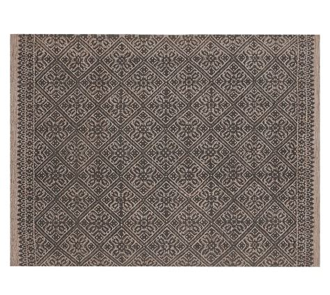 Pottery Barn Clearance Rugs Verra Tile Printed Rug Pottery Barn