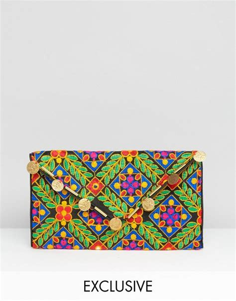 Asos Vintage Style Scarf Clutch by Reclaimed Vintage Reclaimed Vintage Inspired Leaf