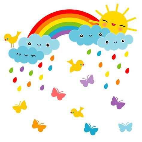 wandtattoo kinderzimmer sonne wandsticker kinderzimmer lustige sonne regenbogen