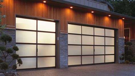 Modern Glass Garage Doors by Broken Springs Gallery Track Garage Doors Gallery