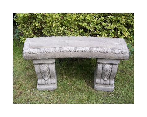 stone garden benches uk large cast stone garden bench bespoke garden ornament