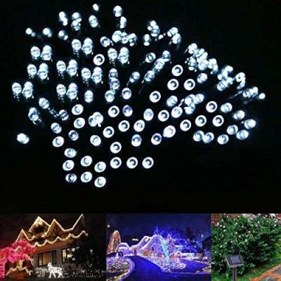 proxima direct 174 200 led 23m white solar powered fairy