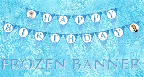 printable birthday banner frozen 7 best images of banner free printable disney frozen