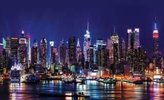 New York at Night Wallpaper - WallpaperSafari