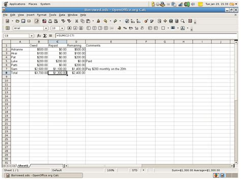How To Do A Simple Spreadsheet by Small Business Resourcing Spreadsheet Screenshot
