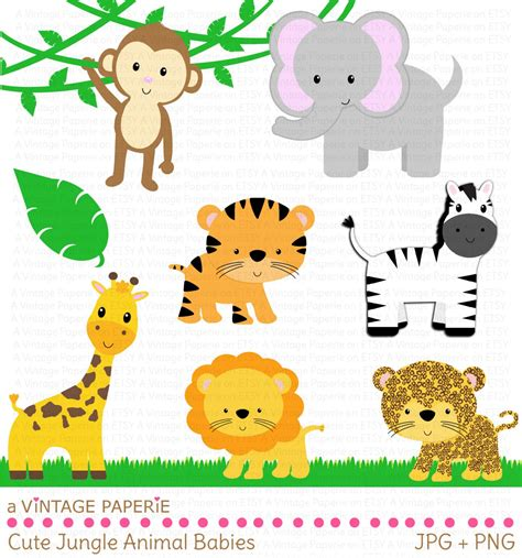 printable images of jungle animals zoo animals clipart free large images baby shower