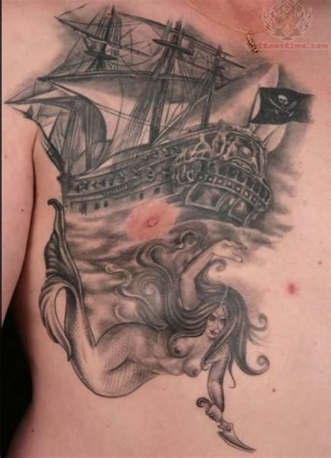 tattoo chest ship ship tattoo images designs