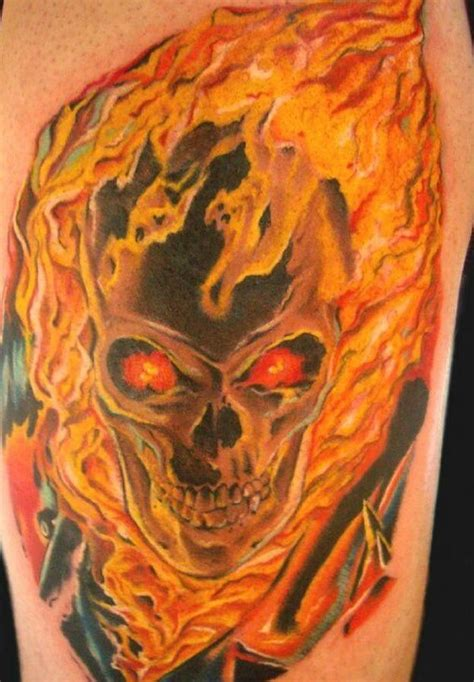 skull with flames tattoo 30 skull tattoos