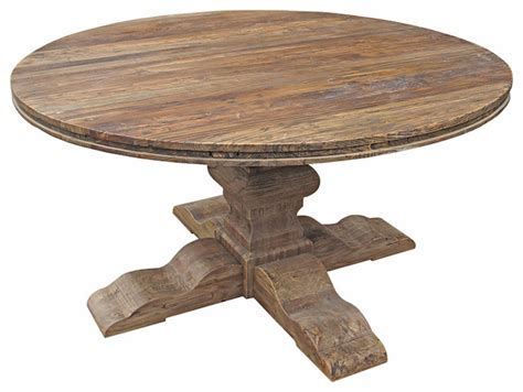 florence round extendable reclaimed elm dining table maris french country reclaimed elm round dining table