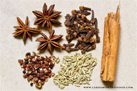 chinese five spice cardamom days food