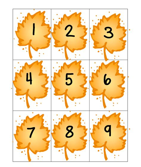 printable number leaves first grade wow falling for math