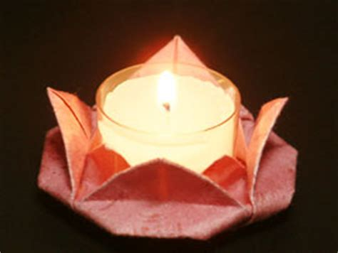 Origami Candle - origami candle holder