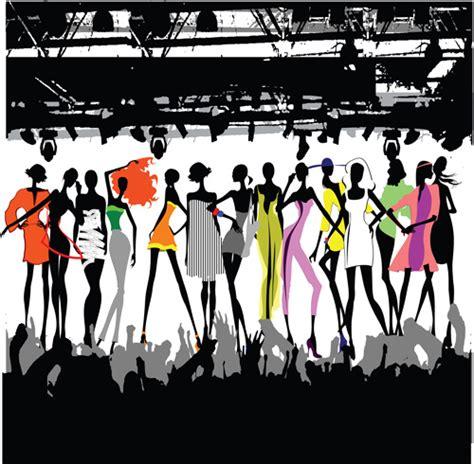fashion clip free clip fashion model silhouette free vector