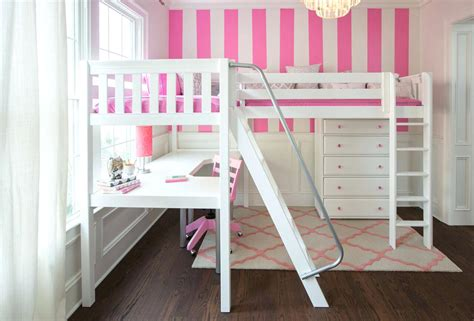 girl twin loft bed with slide loft beds girls low loft bed bedroom designs for cool