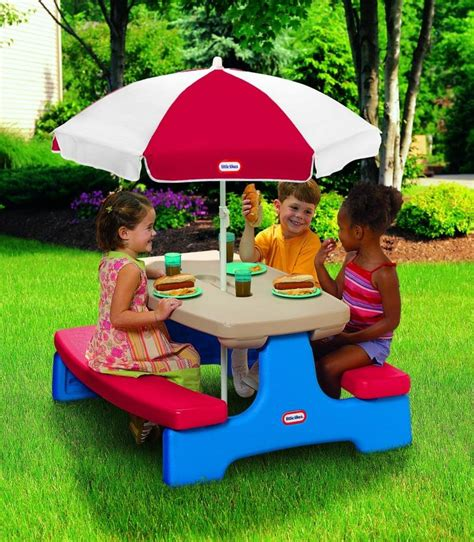 Children S Picnic Table With Umbrella by Picnic Table With Umbrella Photos Ideas Rilane