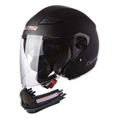 Helm Cross Terbaik jual helm ls2 of569 1 scape solid matt black open visor de