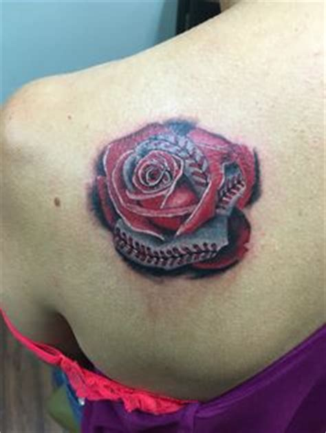 baseball rose tattoo not your typical this baseball by andres at
