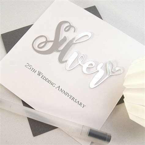 25th Wedding Anniversary Card Box silver 25th wedding anniversary card by the hummingbird