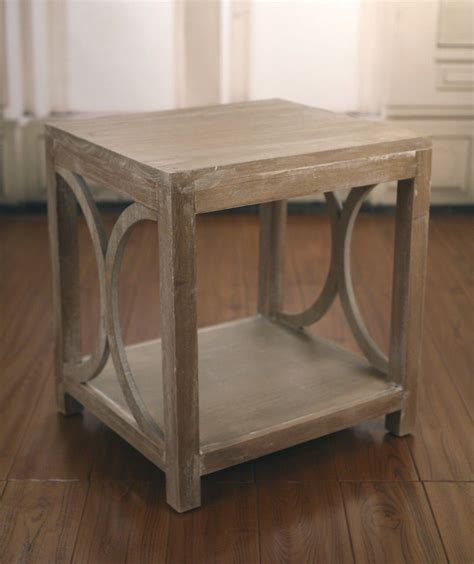 provincial side table provincial white wash l table side tables