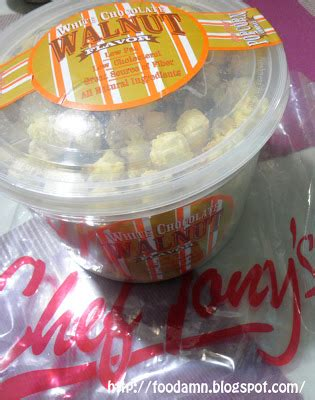 Chef Tony S Popcorn White Chocolate Parmesan 200gr foodamn philippines chef tony s white chocolate walnut popcorn snack