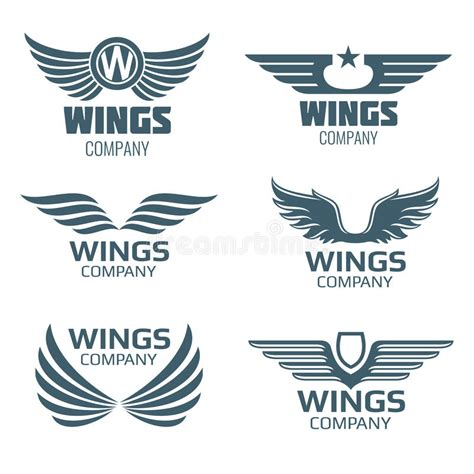 M Vector Logos Brand Logo Company Logo - vector wings logo set stock vector image of badge