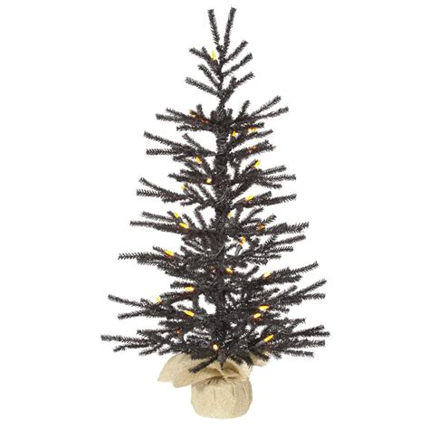 black tree with orange lights vickerman 2 5 black pistol artificial