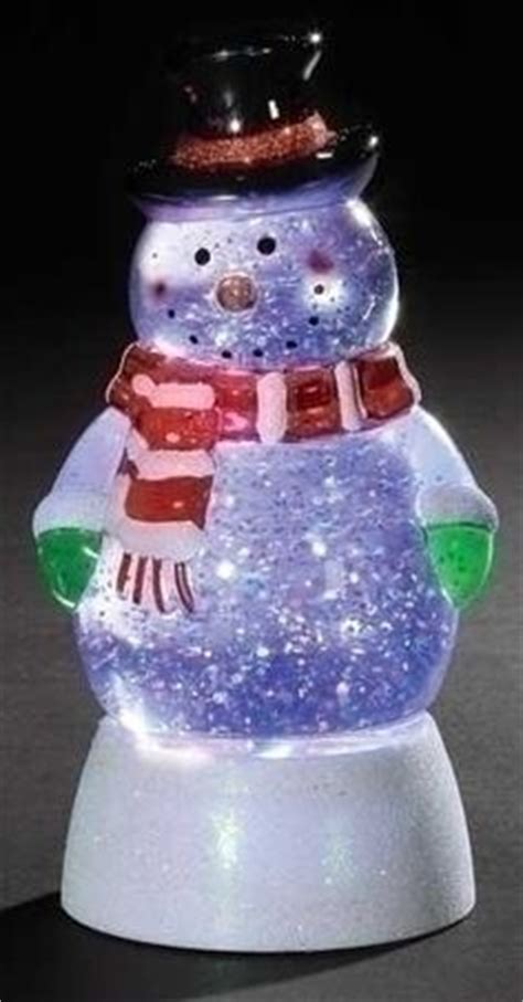 battery operated snow globes christmas led lighted color changing snowman swirl glitterdome figure snow globes