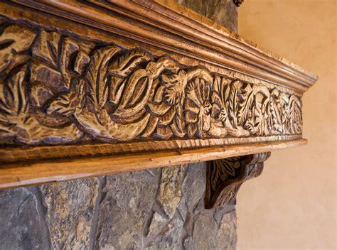 custom wood carving mediterranean fireplace mantels