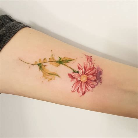 daisy tattoos 85 best flower designs meaning 2018
