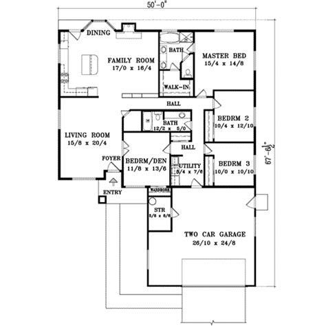 home plans homepw76585 3 677 square feet 4 bedroom 3 santa fe house plan 4 bedrooms 2 bath 1990 sq ft plan