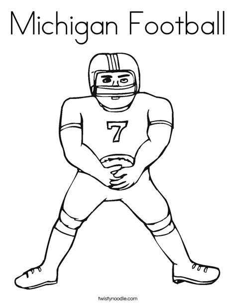 Michigan Football Coloring Page | michigan football coloring page twisty noodle