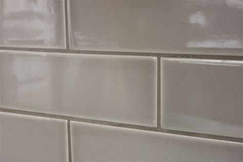 White Kitchen Backsplash Tiles by Light Grey Ceramic Subway Tile