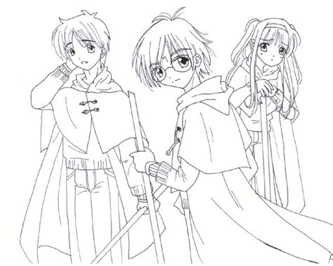 harry potter chibi coloring pages harry potter lineart by shimoyo on deviantart