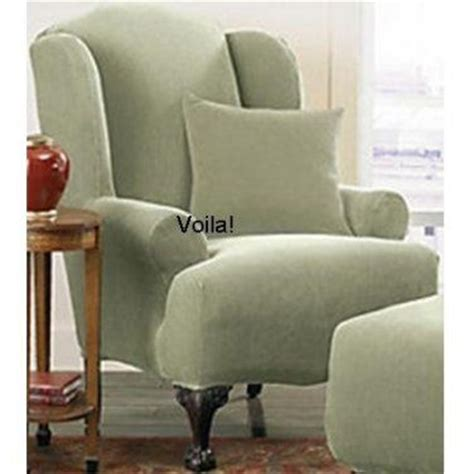 green wingback chair slipcover 1000 images about furniture slipcovers on