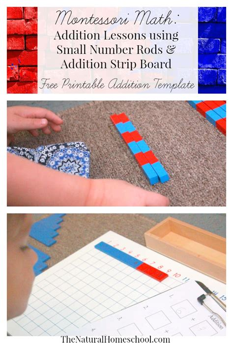printable montessori addition strip board free math lessons and printable templates free
