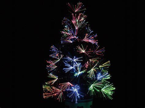 Led Micro Lights by Lunartec Led Weihnachtsbaum Mit Glasfaser Farbwechsler